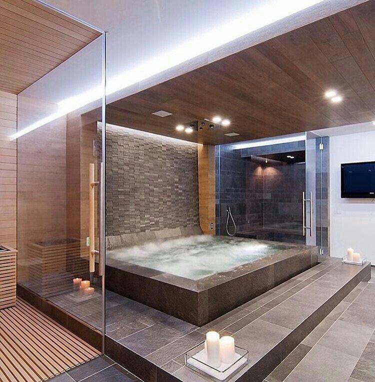 Breathtaking indoor jacuzzi | Home Decor & Interior/Exterior Design ...