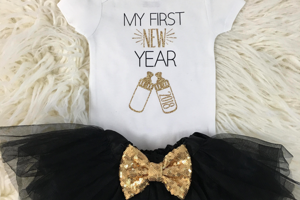 25 Fun Ideas For New Year S Eve With Kids Project Nursery Custom Onesies Baby New Year Girl Onesies