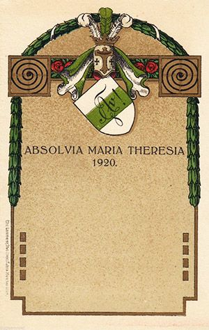 Absolvia Maria-Theresia-Relaschule München 1920