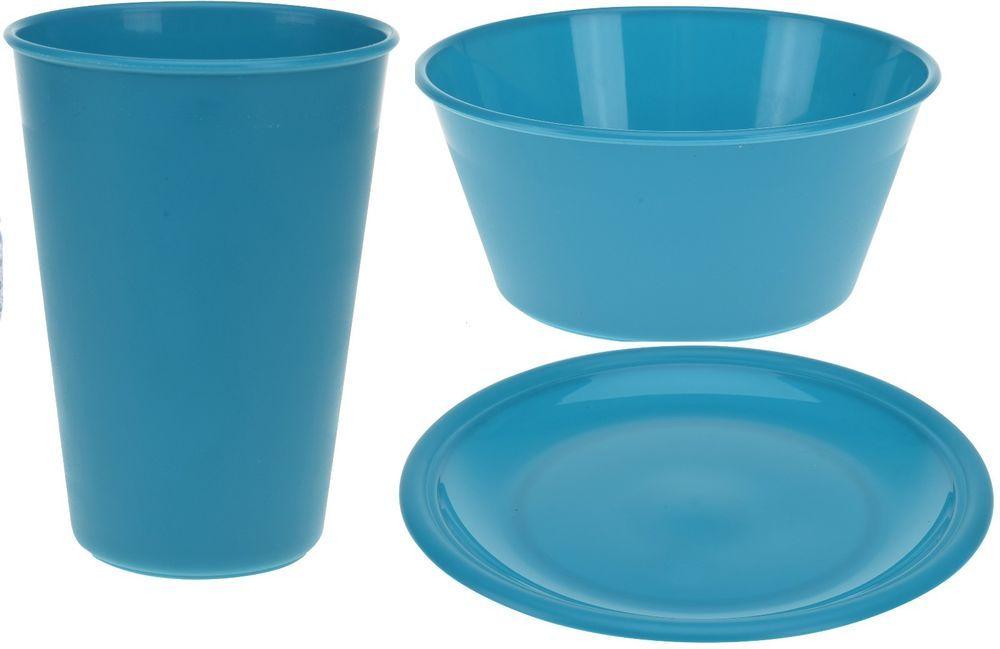 Details About Set Of 4 Childrens Picnic Camping Plastic Plates Bowls Tumblers Teal Plastic Plates Plates Bowls Picnic