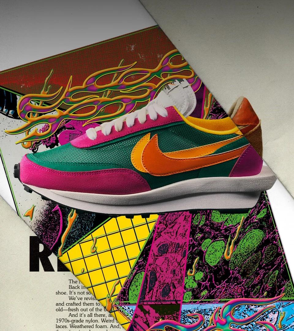 Sacai X Nike Ldwaffle Pine Green Release Date Nike Nike Snkrs Sneakers Nike