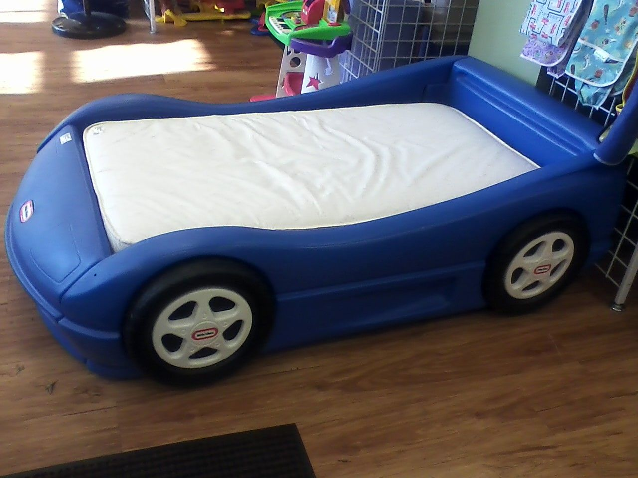 Blue car beds for kids - Blue Little Tikes Toddler Bed Getting This For Jacksons Birthday