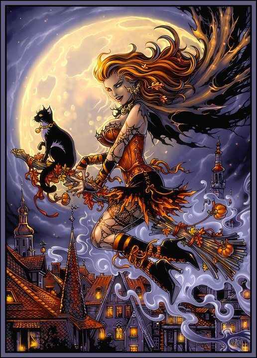 Harvest witch Halloween art, Witch art, Fantasy art