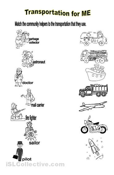 Worksheets Free Community Helpers Worksheets community helpers worksheets for preschoolers will identify the transportation used by helpers
