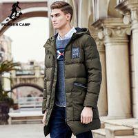 d944d9605fd39 Pioneer Camp long thicken winter down jacket men brand clothing warm duck  down coat male top quality men down parkas 625001