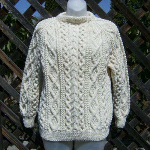 Handknit aran sweater for men or women | PurplePup - Knitting on ArtFire