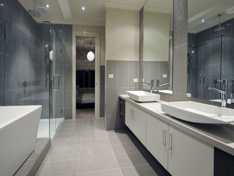 bathrooms image: greys, whites - 177841