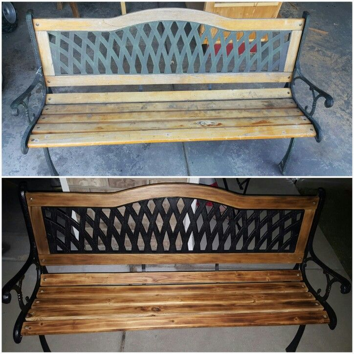 Diy restored garden bench (With images) Home decor