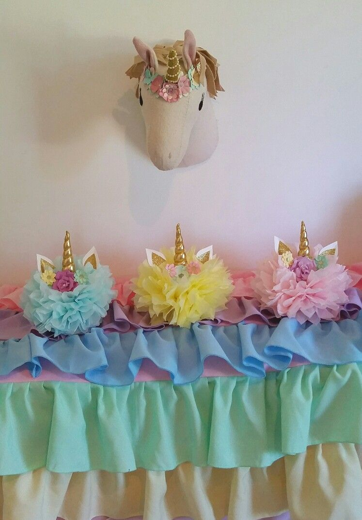Unicorn Head Centerpiece Unicorn Centerpieces Unicorn Table decorations Unicorn Party Decor Set of 3 Unicorn Birthday Party