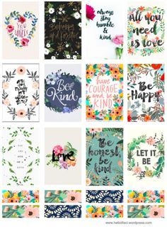 Floral Quote Printables Happy Planner Planners And Decoration