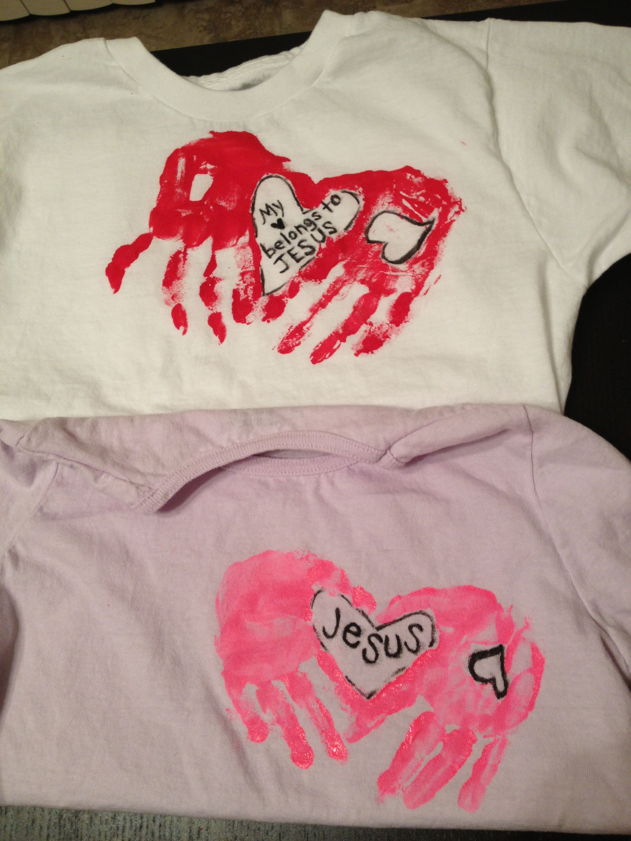 Valentine S Day Handprint T Shirt Craft Things I Made Pinterest