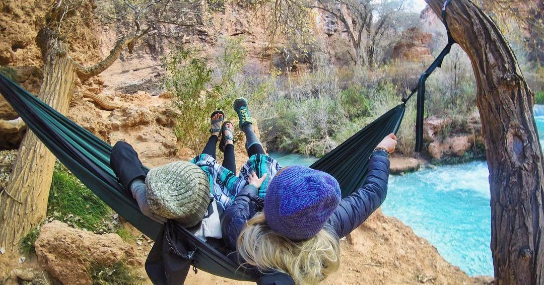 Early morning hammock and chill  @rio_hammocks . . ----------------------------------------------------- #hammocklife #trustthewild #getoutside #in2nature #briskoutdoors #outside_project #betrendly #wildernessbabes #getoutstayout #mountainadventurers #earthgirladventures #arizonahiking #instagramaz #radgirlslife #ASDT #hammocktime #hammock #havasupai #gprealm #goprohero4 #campingcollective #ourcamplife #departedoutdoors #mountaingirls #goprophotooftheday #staywild  #wearethewild…