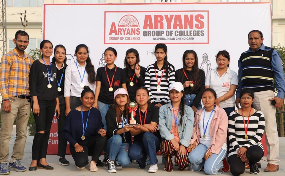 Aryans 13th Athletic Meet was organized today by Aryans Group of Colleges Chandigarh at its Campus. Students of Engineering, Law, Management, Nursing, Pharmacy, Agriculture, B.Ed etc participated in various indoor and outdoor games organized on the occasion. Winners of the games were honoured in the meet.  #Winners #AthleticMeet #Chess #Badminton #BasketBall #VolleyBall #Carrom #Sprint #JAvellinThrow #TugofWar #LongJump #HighJump #Kabaddi #KhoKho