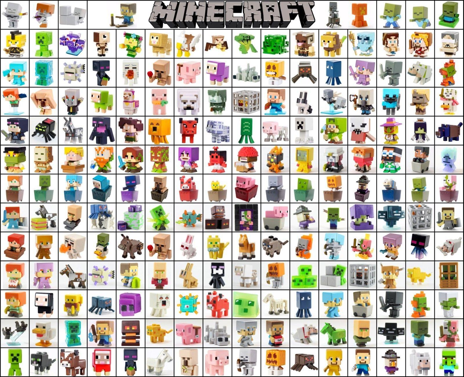 Minecraft Mini Figure Series 1 2 3 4 5 6 7 8 9 10 11 12 Assortment