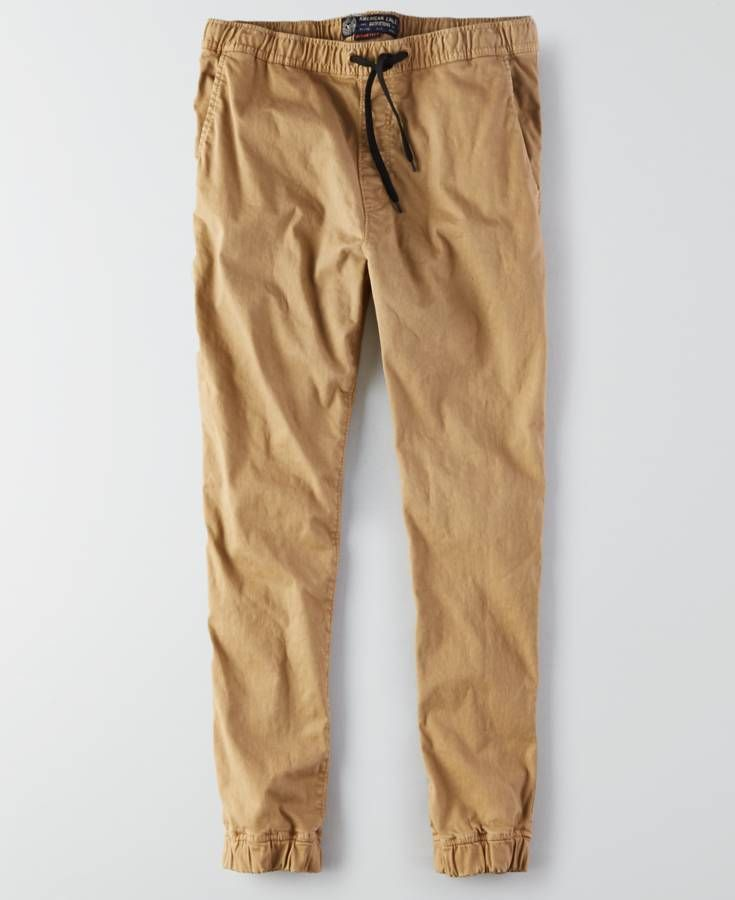 144141ee77 American Eagle Active Flex Skinny Jogger (Jogging Pants), Men's, Scout Khaki