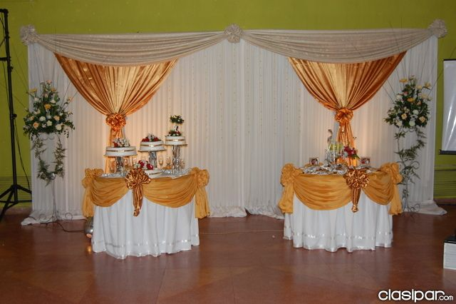 Decoracion y ornamentacion de fiestas buscar con google for Telas para decorar salones