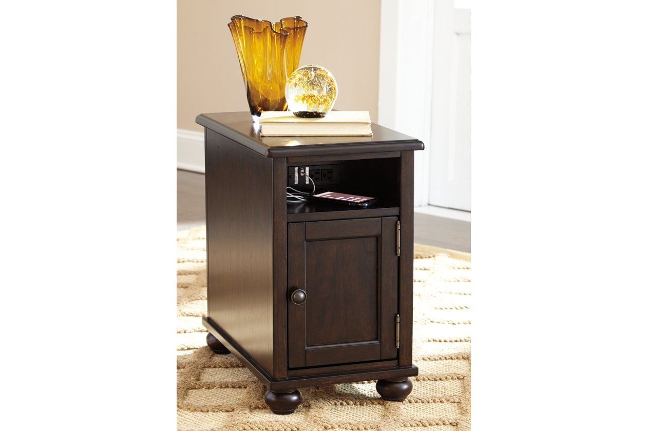 Barilanni Chairside End Table With Usb Ports Outlets In 2020