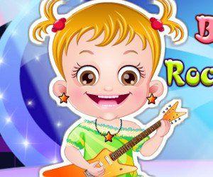 Rehaz el estilo de Baby Hazel, vistiendola y peinándola como una estrella de rock. Será muy divertido mirarla sobre la plataforma sonando la guitarra, http://www.babyhazelworld.com/game/juego-baby-hazel-rockstar-dressup
