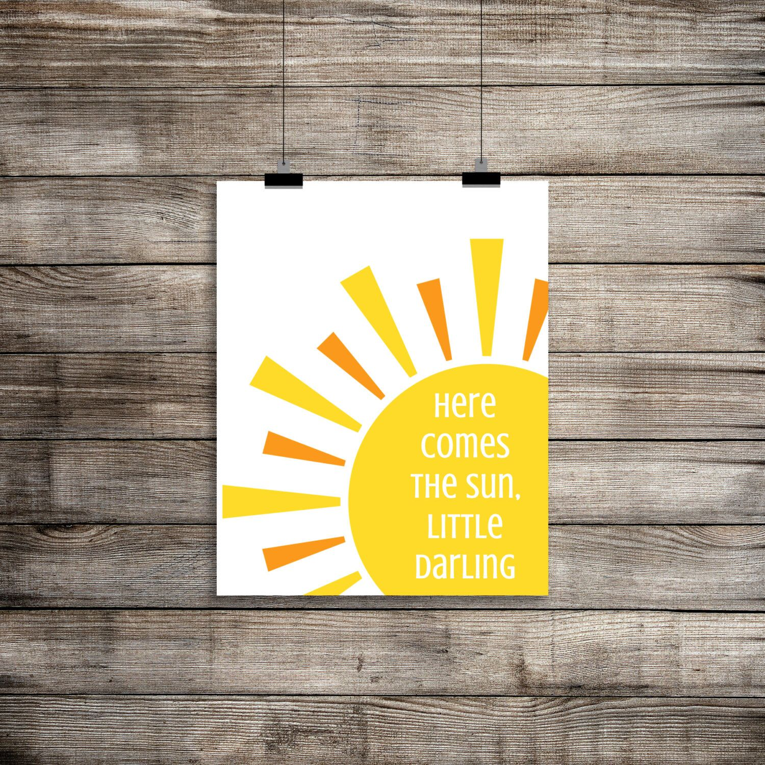 Here Comes The Sun, the Beatles Print, Here Comes The Sun Wall Art ...