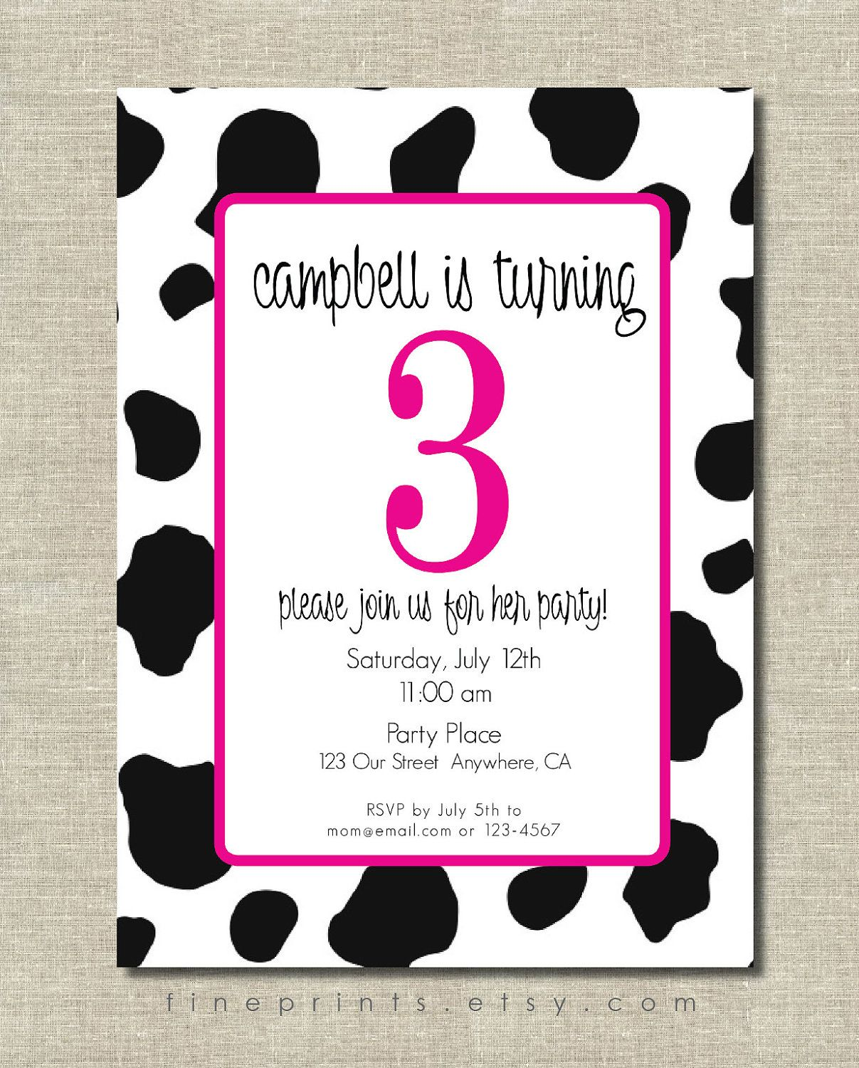cow birthday invitations my birthday pinterest birthday party