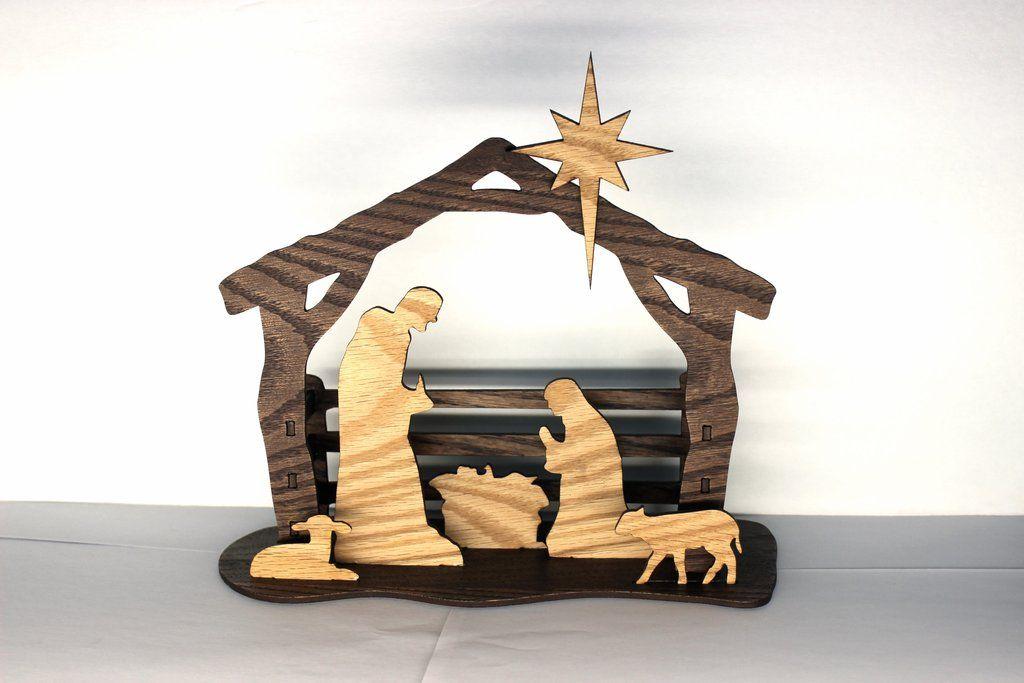 Silhouette Nativity 3D Stained Nativity Scene Kit Diy