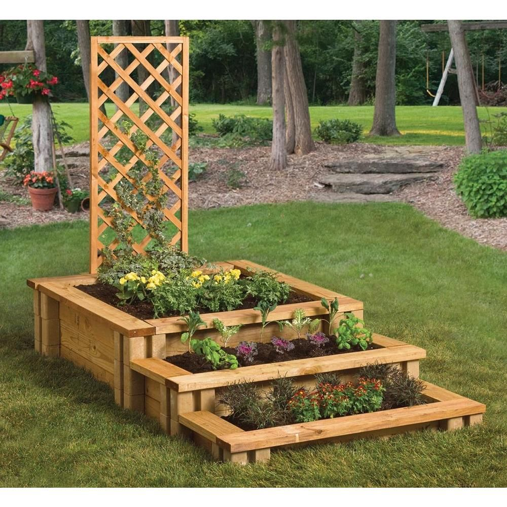 Oldcastle 8 in. x 8 in. x 6 in. Tan Brown Planter Wall Block ...