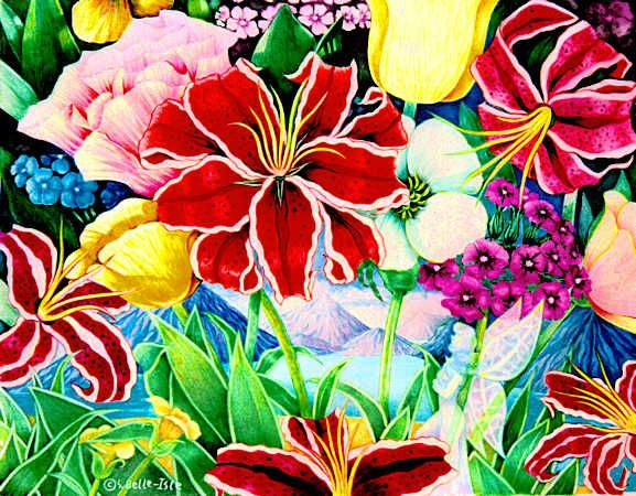Flowers For Flower Drawings In Color Pencil