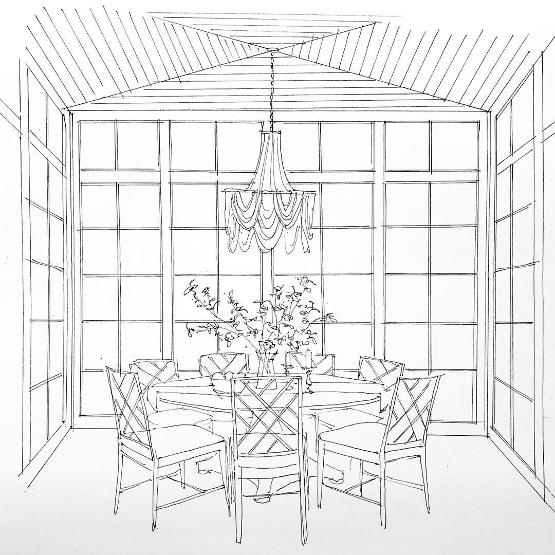 Rachel Parcell S Future Dining Room Sketched By Alice Lane