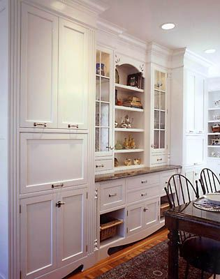 find this pin and more on house in progress built in hutch cabinet - Built In Cabinets For Kitchen