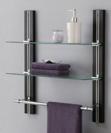 This Two-Tier Glass Shelf is perfect! #zulilyfinds | For the Home ...
