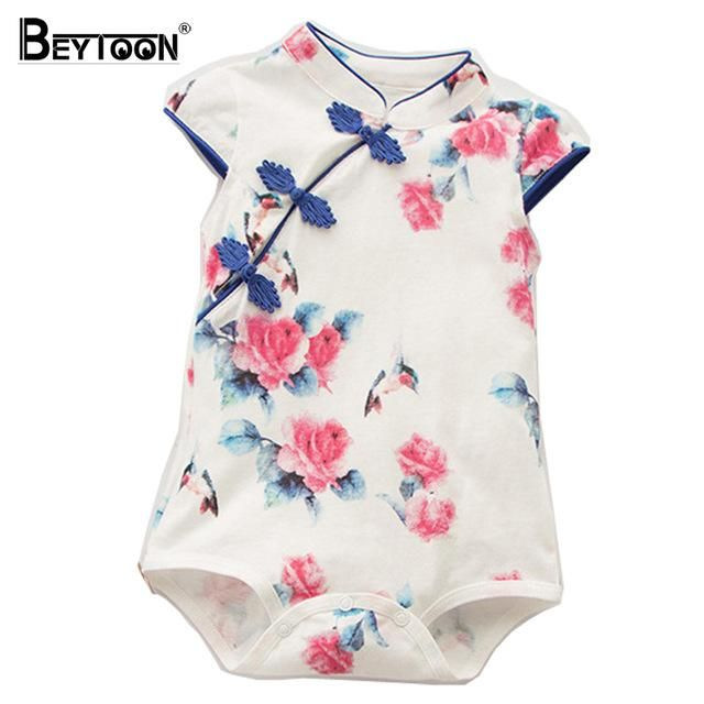 Toddler Baby Boys Onesies Summer Casual Outfits Hawaiian Style Floral One-Piece Romper