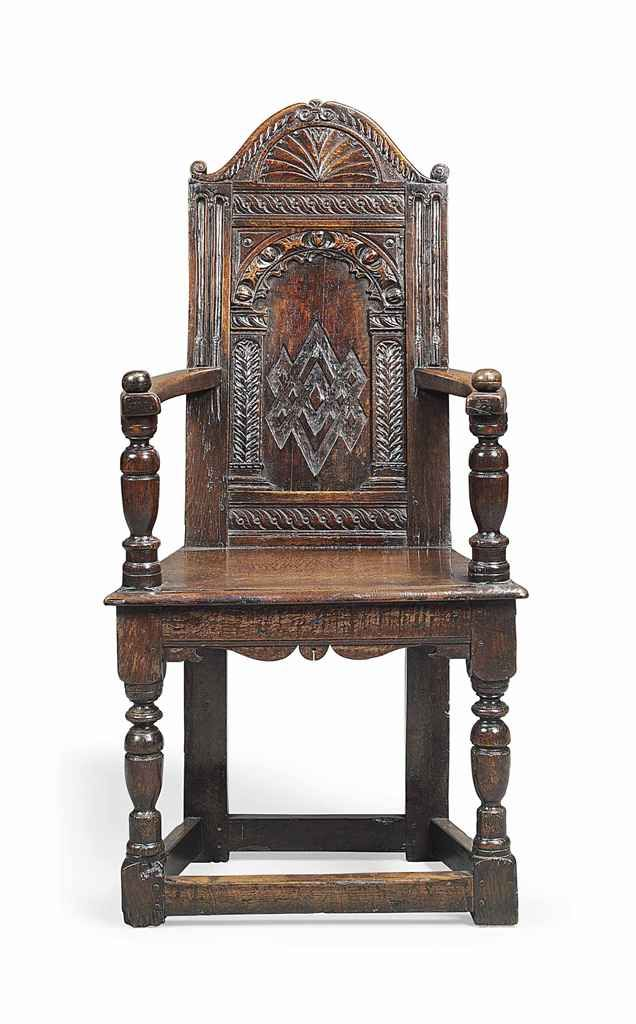 Elizabethan oak armchair circa late 1500 39 s furniture for Antique baroque furniture
