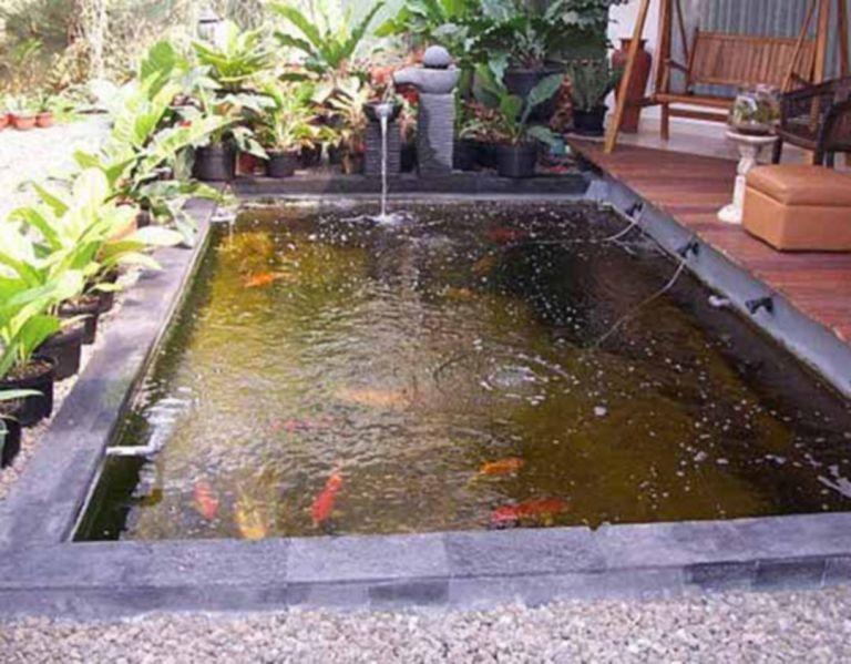 25 Beautiful Minimalist Garden House With Fish Pond Ideas Moolton Ponds Backyard Minimalist Garden Fish Pond