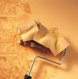 Rag Rolling Staple Chamois To A Roller Diy Wall Painting Wall