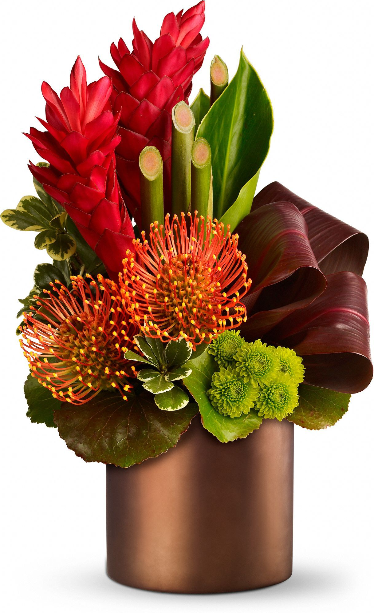 Teleflora Tropical Flower Arrangementstropical Centerpiecesbamboo