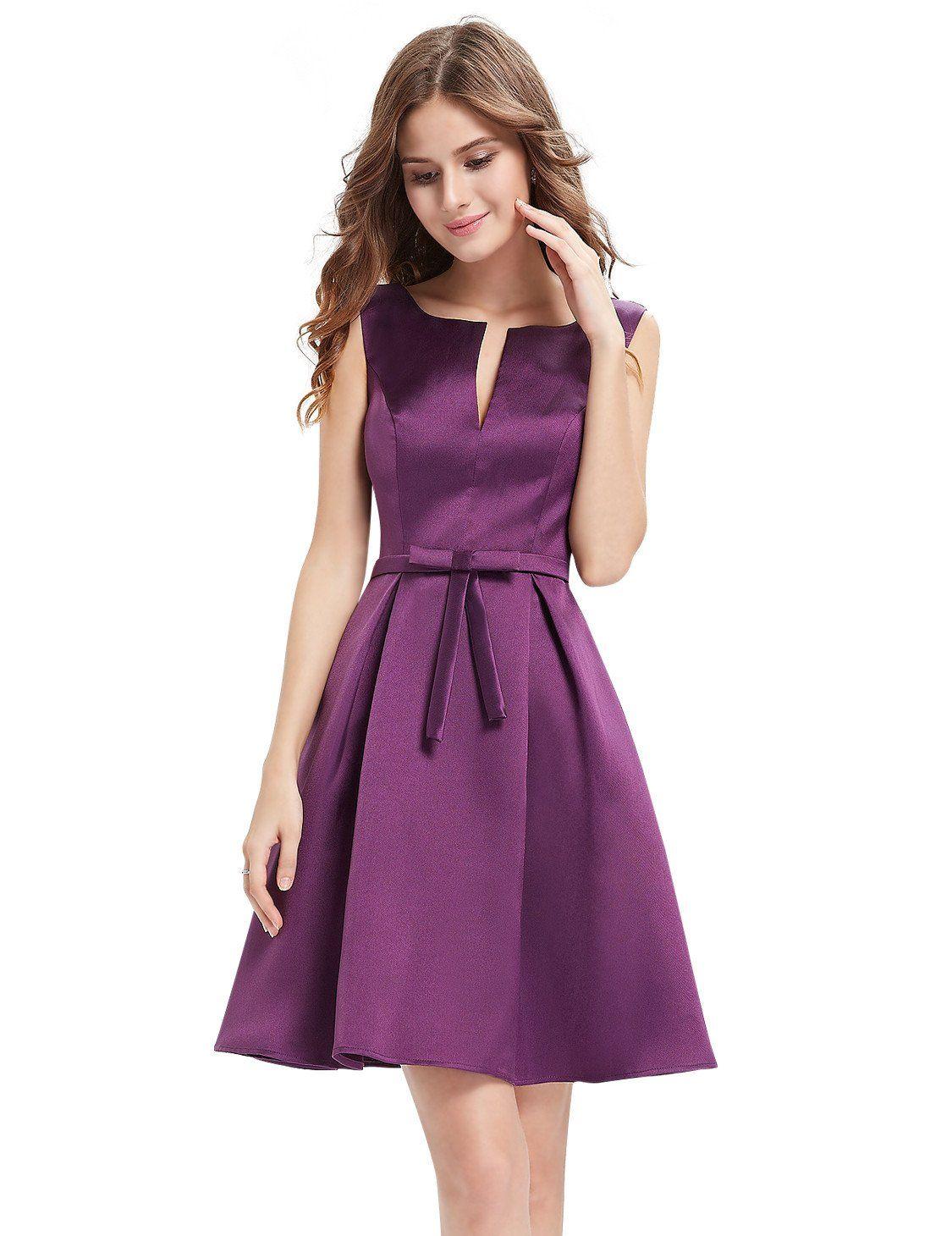 Vestido escote en pico Aina | Outfit | Pinterest | Escote, Vestidos ...