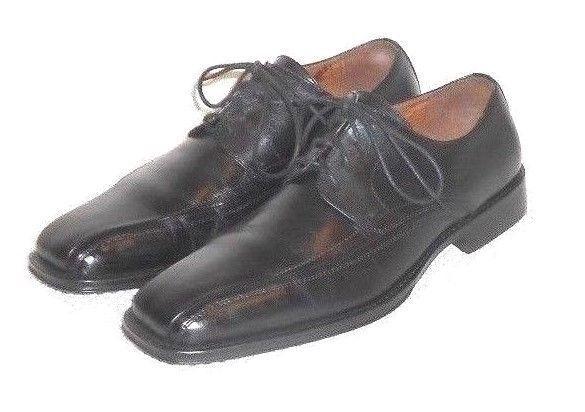 Johnston & Murphy Men's Black Leather Square Toe Dress Oxford Shoe  8 M #JohnstonMurphy #Oxfords