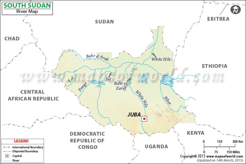 South Sudan River Map Embryo Maps Pinterest Rivers and Lakes