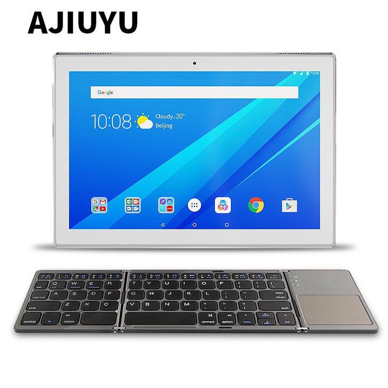 size 40 73b33 c0bdd Three folded wireless Bluetooth Keyboard For Lenovo Tab 4 8 tab4 10 ...