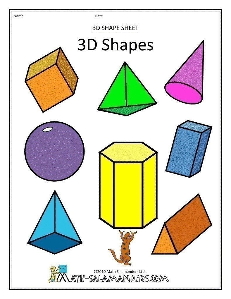 Identify Shapes As Two Dimensional Lying In A Plane Flat Or