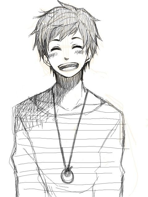Smile Anime Boy Anime Boy Sketch Anime Drawings Boy Anime Drawings