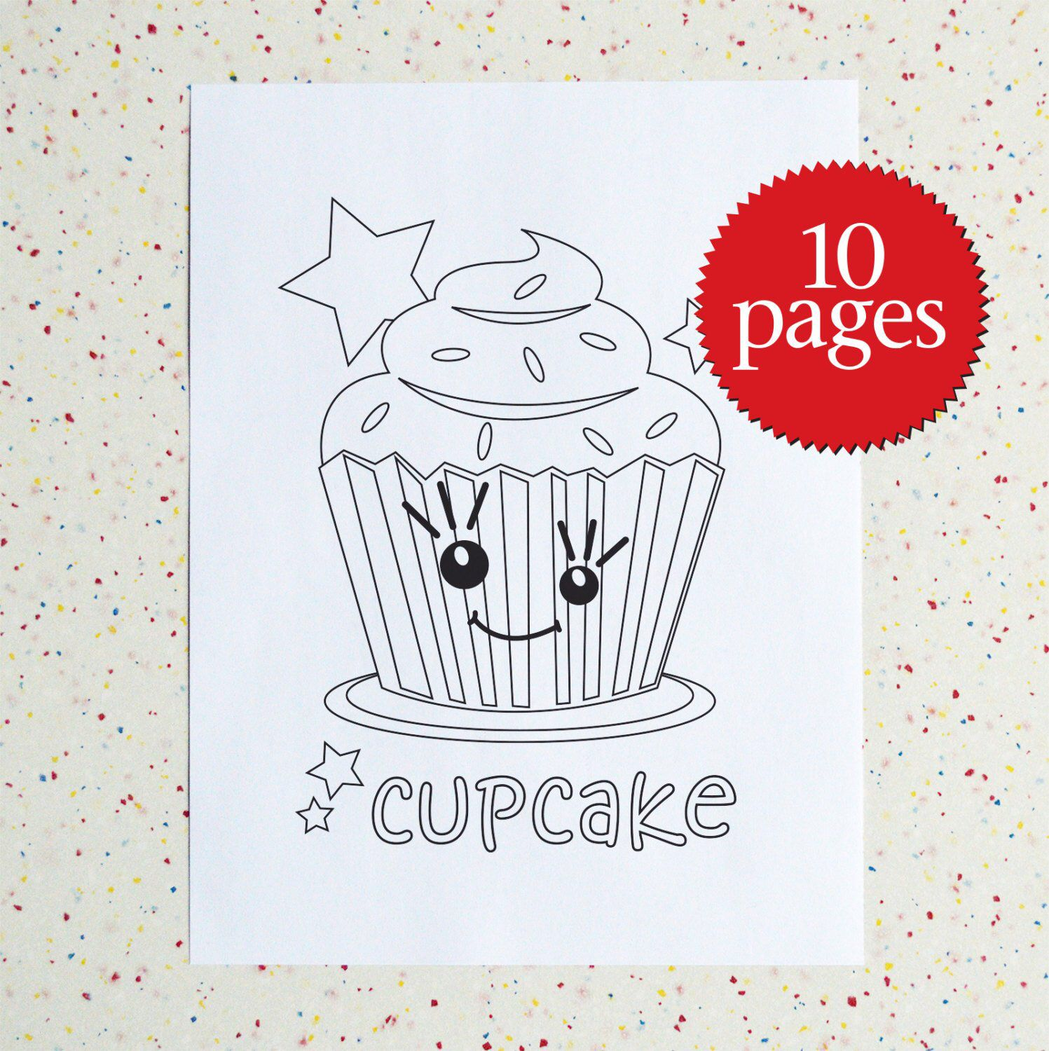 Colouring Pages Sweet Treats Printable Pdf Downloadable Pdf