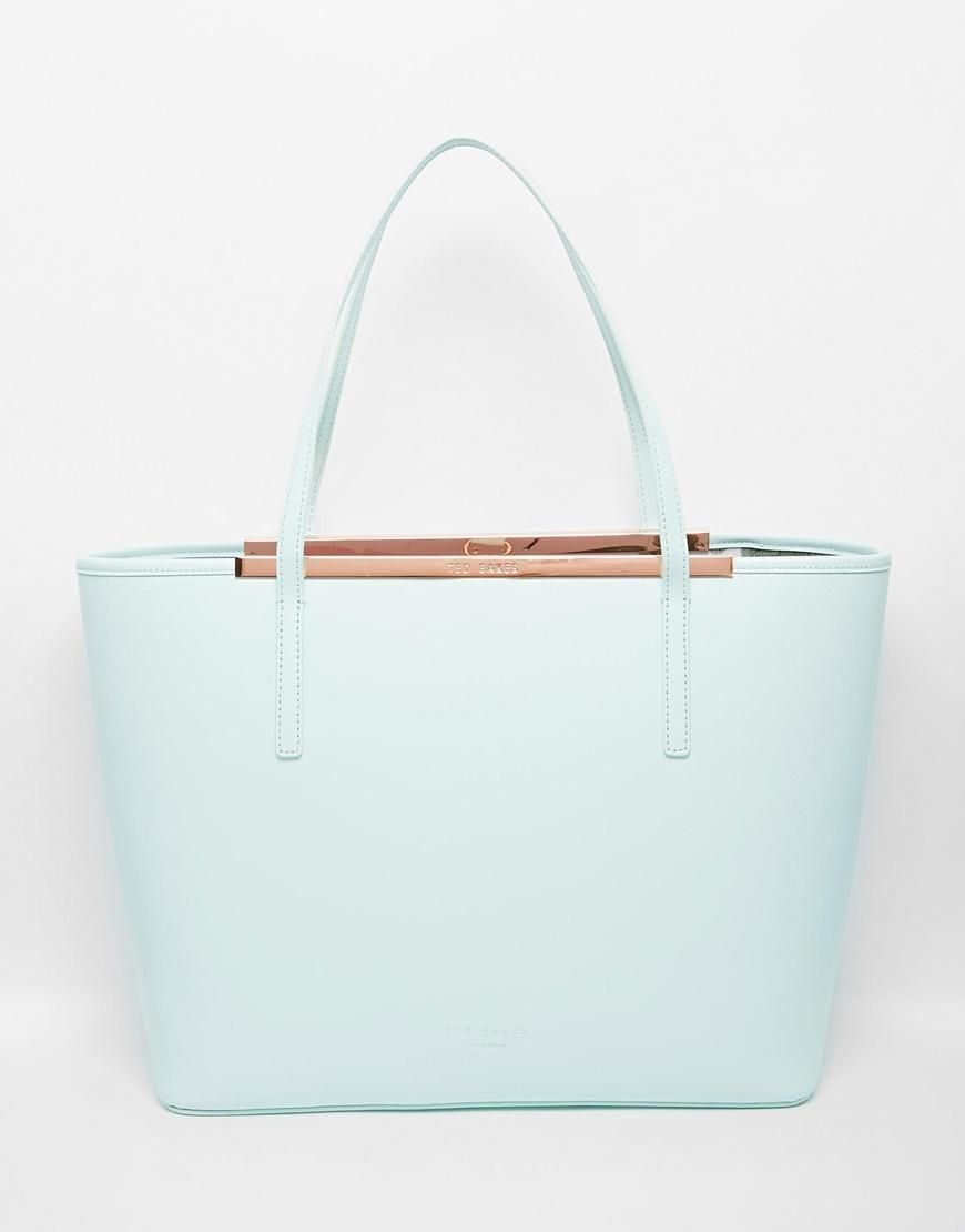 2a31a83a42 Ted Baker | Ted Baker Xhatch Shopper with Printed Lining at ASOS ...
