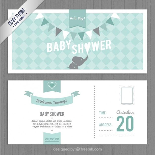 Lovely baby shower invitation template free vector card banner lovely baby shower invitation template free vector stopboris Gallery