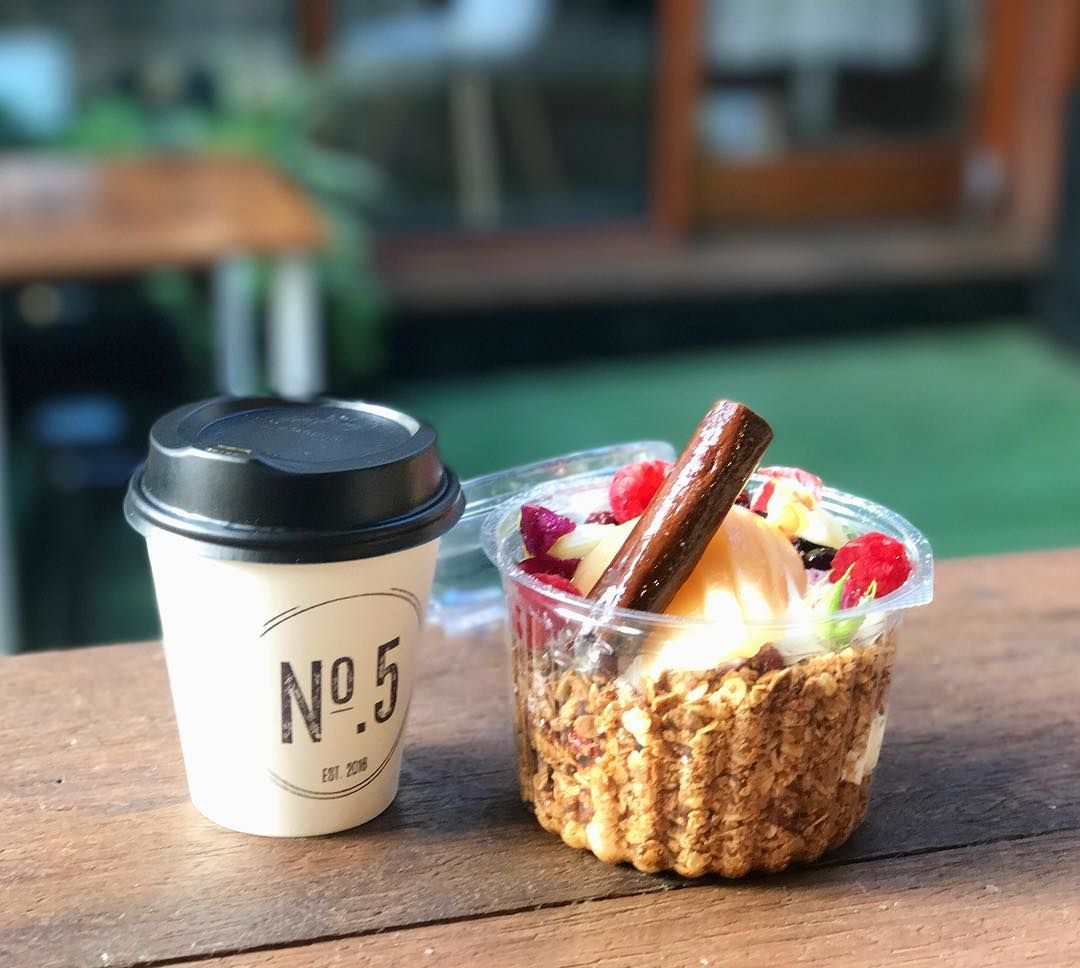 Everything on no.5cafe's menu is available to grab and go