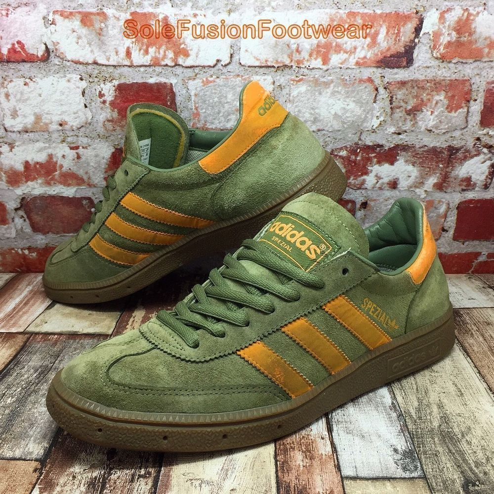 detailed look 4bdf5 65328 adidas Mens SPEZIAL Trainers Olive Green size UK 7 VTG Sneakers US 7.5 EU  40 2 3   eBay