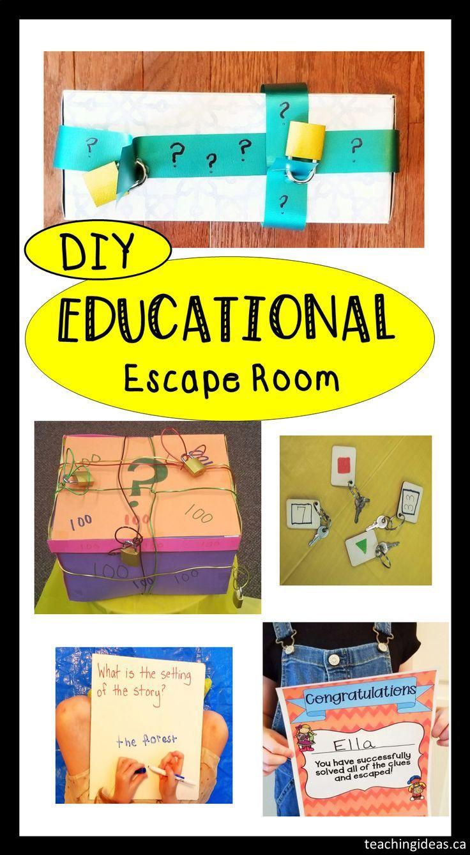 Classroom escape room school or home in 2020 kids