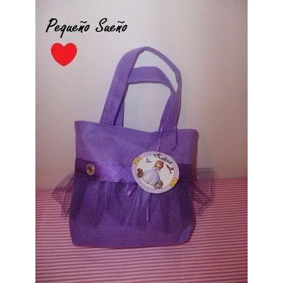 6a63b7521 Bolsitas Cumpleaños Personajes Tela Princesa Sofia - $ 16,00 en Mercado  Libre