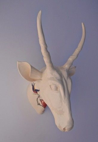 Lucie McCann, 'Eland with heart & two birds 3D tattoo' - wish I could have bought this work....