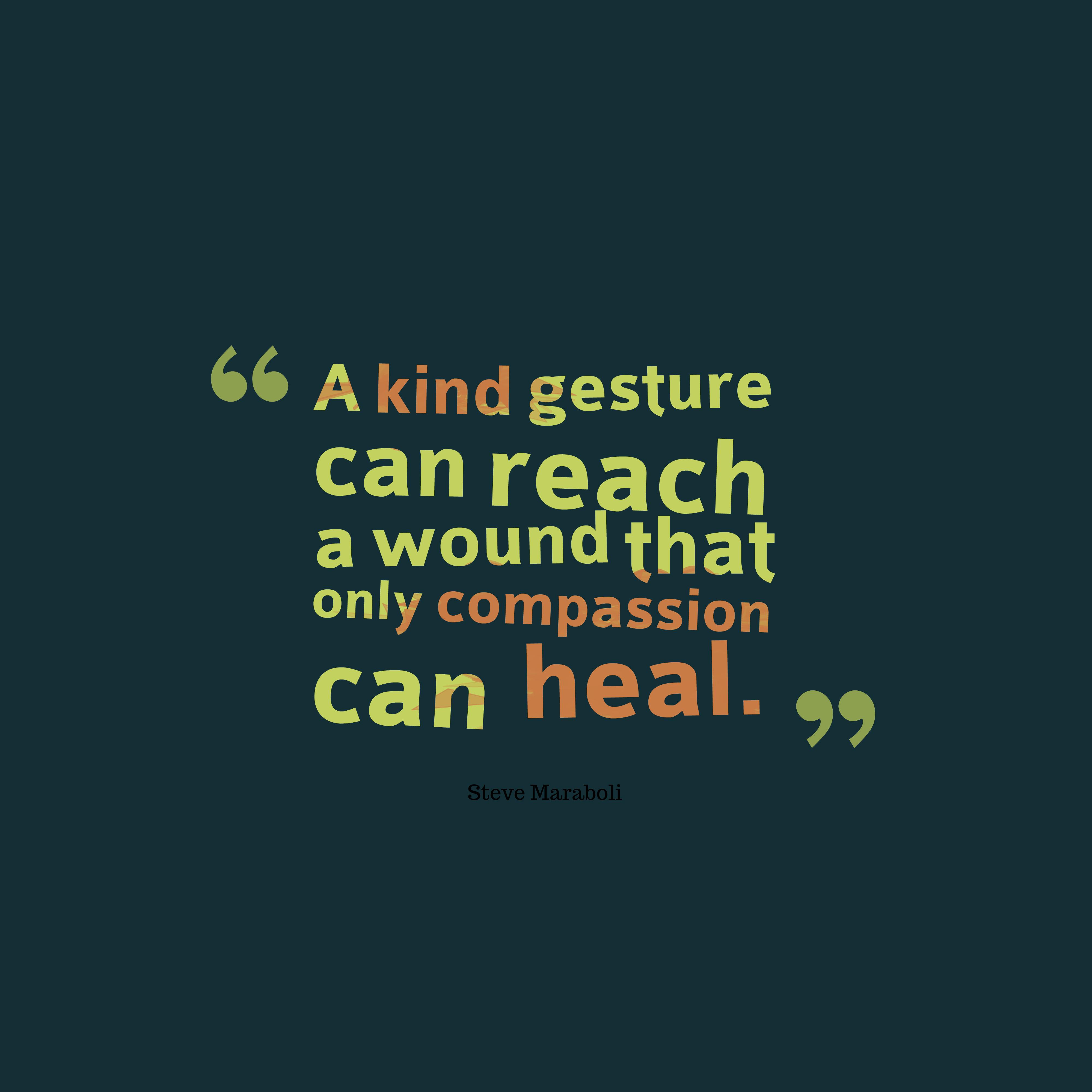 Steve Maraboli quote about compassion. Compassion quotes